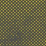 Modèle avec les points peints par or Photos libres de droits