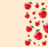 Modèle avec les pommes rouges Images stock