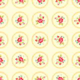 Modèle avec les roses rouges Illustration de Vecteur