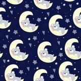 Modèle avec un ours et une lune Image stock