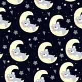 Modèle avec un ours et une lune Photo libre de droits