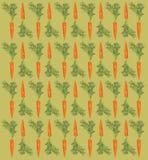 Modèle avec une carotte sur un fond beige Images libres de droits