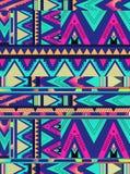 Modèle aztèque de triangle Photographie stock libre de droits