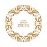 Modèle baroque circulaire Photos stock