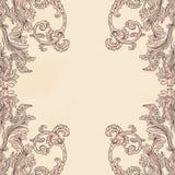 Modèle baroque fleuri de fond de vintage Photos stock