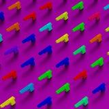 modèle Bas-polygonal d'illustration de pistolets Image libre de droits
