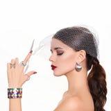 Modèle beau et de mode Photographie stock libre de droits
