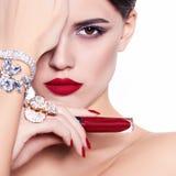 Modèle beau et de mode Images stock