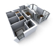 Modèle blanc d'architecture illustration stock