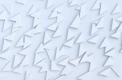 Modèle blanc de fond avec le modèle expulsé régulier de triangles illustration libre de droits