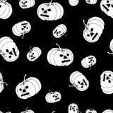 Modèle blanc de potiron de Halloween illustration stock