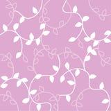Modèle blanc sans couture de feuille au-dessus de fond rose Photos libres de droits