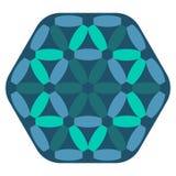 Modèle bleu abstrait de vecteur Image stock