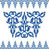 Modèle bleu baroque de vintage sans couture Photos libres de droits