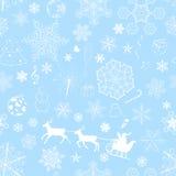 Modèle bleu-clair sans couture de Noël Image stock