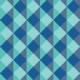Modèle bleu de diamant de pixel geomatric abstrait sans couture illustration stock