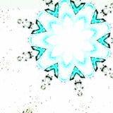 Modèle bleu de flèche image libre de droits