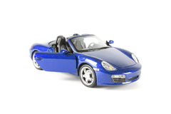 Modèle bleu de voiture de sport Image stock