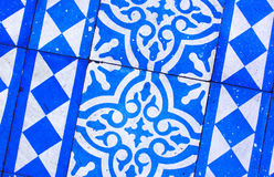 Modèle bleu et blanc oriental Images stock