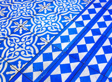 Modèle bleu et blanc oriental Photos stock