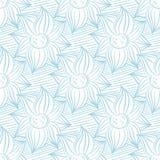 Modèle bleu et blanc sans couture avec des ornements de papier peint Photos stock