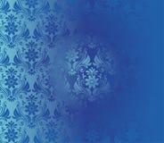 Modèle bleu floral de rétro fond Image libre de droits
