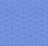 Modèle bleu sans couture de vague Vecteur illustration libre de droits