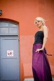 Modèle blond Photographie stock libre de droits