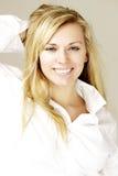 Modèle blond Photos libres de droits