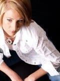 Modèle blond attrayant photos stock
