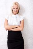 Modèle blond attrayant Image libre de droits