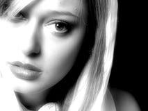 Modèle blond attrayant photo stock