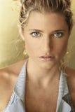 modèle blond de plan rapproché Images libres de droits