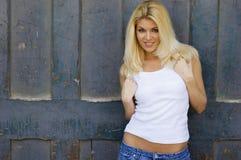 Modèle blond sexy images stock