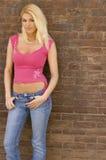 Modèle blond sexy photographie stock
