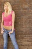Modèle blond sexy photo stock