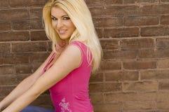Modèle blond sexy Images libres de droits