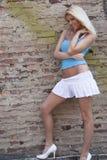 Modèle blond sexy de femme Images libres de droits