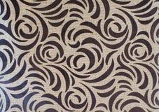 Mod?le brun abstrait de couleur sur la texture naturelle de toile photos stock