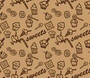 Modèle brun de bonbons Photographie stock libre de droits
