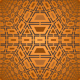 Modèle brun géométrique de vecteur Photo libre de droits