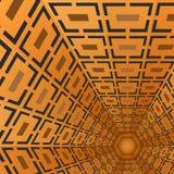 Modèle brun géométrique de vecteur Photos stock