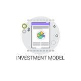 Modèle Business Icon de projet d'investissement Photographie stock libre de droits