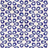 Modèle carré coloré de batik d'aquarelle de style artistique sans couture indigène de boho Photographie stock