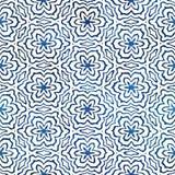 Modèle carré coloré de batik d'aquarelle de style artistique sans couture indigène de boho Photo stock