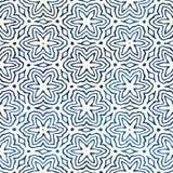 Modèle carré coloré de batik d'aquarelle de style artistique sans couture indigène de boho Photo libre de droits
