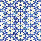 Modèle carré coloré de batik d'aquarelle de style artistique sans couture indigène de boho Photos libres de droits