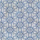 Modèle carré coloré de batik d'aquarelle de style artistique sans couture indigène de boho Images libres de droits