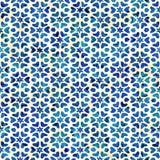 Modèle carré coloré de batik d'aquarelle de style artistique sans couture indigène de boho Illustration Libre de Droits