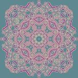 Modèle carré dans le style oriental Peut être employé pour décorer le tex illustration de vecteur